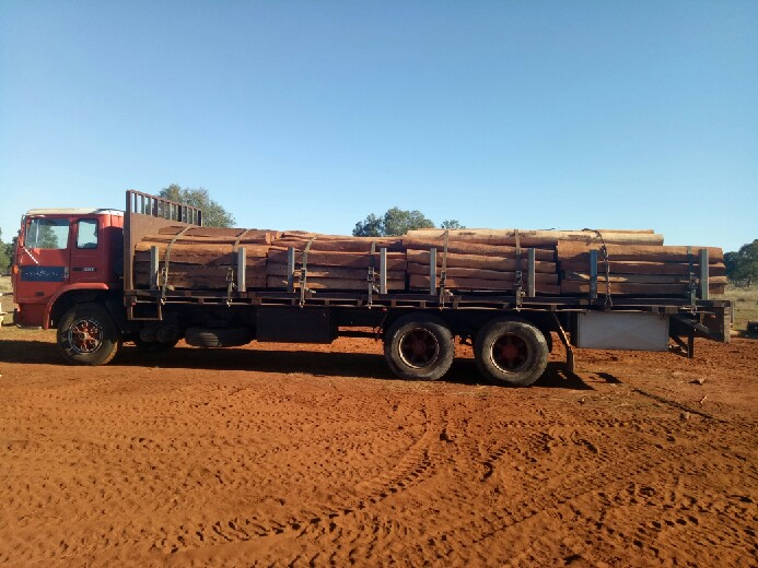 Load of Split Fence Posts